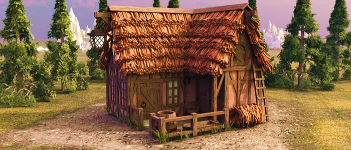 Builder's Medieval Inn & Stable 3D