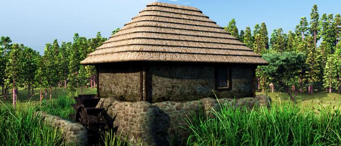 Meshbox Medieval Ukraine Watermill 3D Model