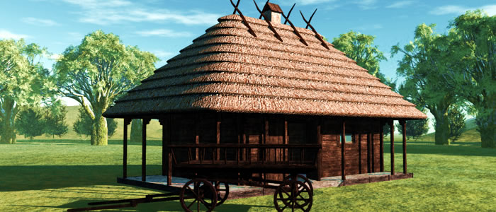 Medieval Ukraine Blacksmith 3D Building