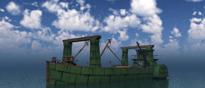 3D Dwarven Merchant Ship