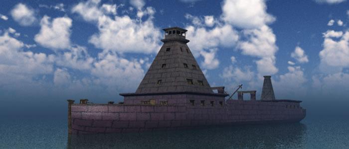 Dwarven Warship 3D