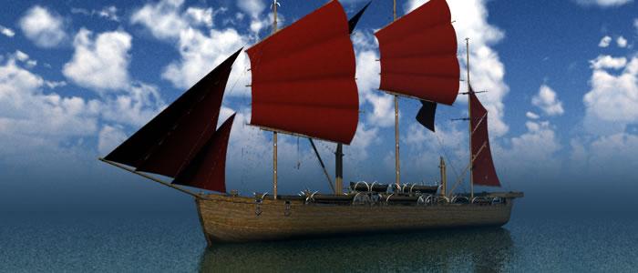 Orc Whaler's Ship 3D