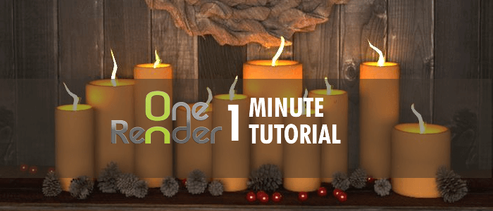 OneRender One Minute 3D Tutorial