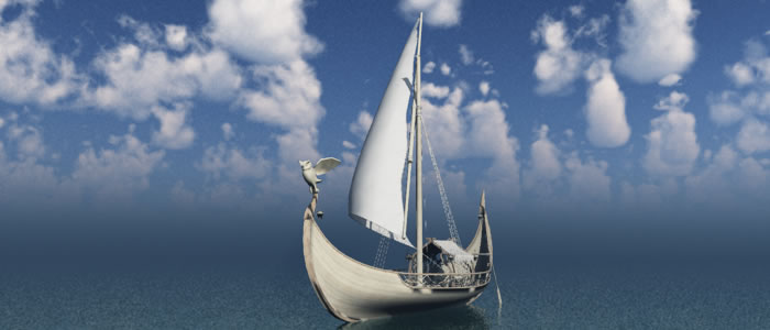 Elven Small Sail Boat R2