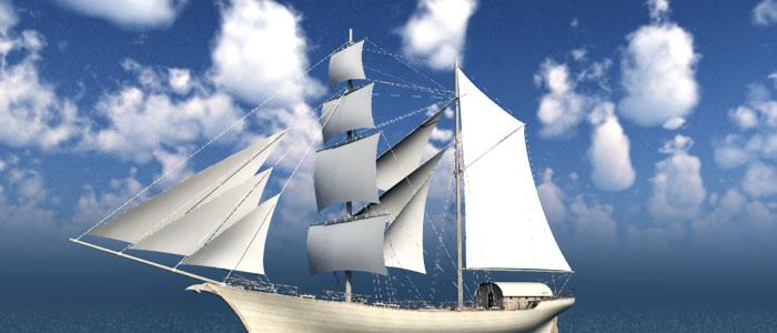 Meshbox 3D Merchant Ship
