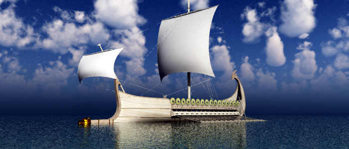 Meshbox 3D Elven Warship