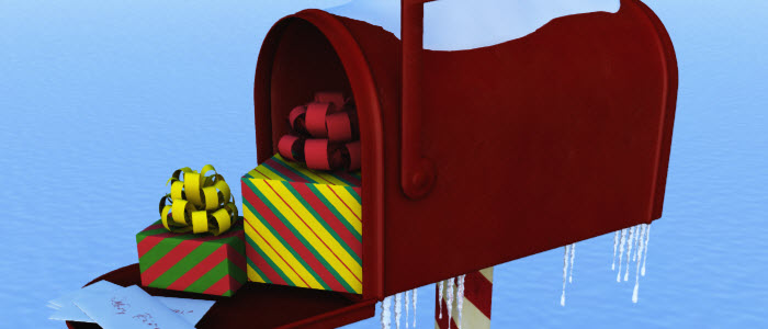 Free 3D Christmas Mailbox
