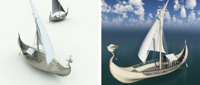 Elven Small Sailboat 3D Model