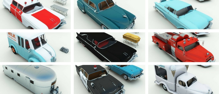 Fedoraville Vehicles 3D Model Set