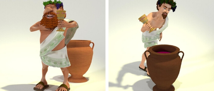 "Young Toon Dionysus for Poser & DAZ Studio, Plus Bundle with ""Old"" Toon Dionysus"